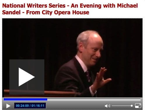 Michael Sandel 2012 NWS Program
