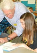 Mike Delp poetry workshop at Traverse Heights elementary