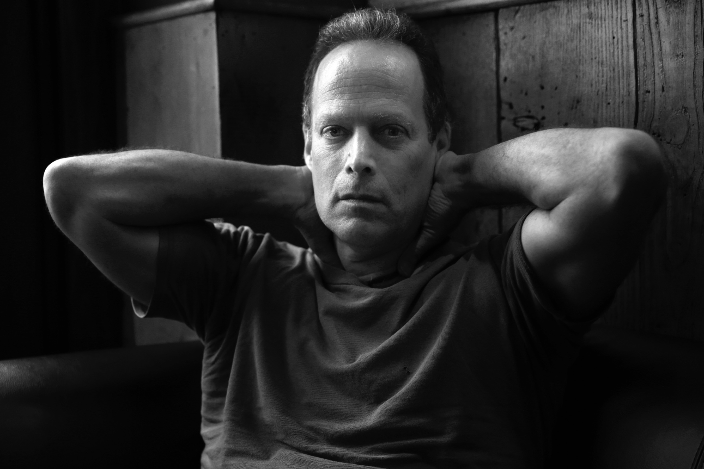 Author Sebastian Junger talks about his new book 'Tribe' during an interview at The Half King bar and restaurant on West 23rd street in New York, on Tuesday, April 26th 2016.