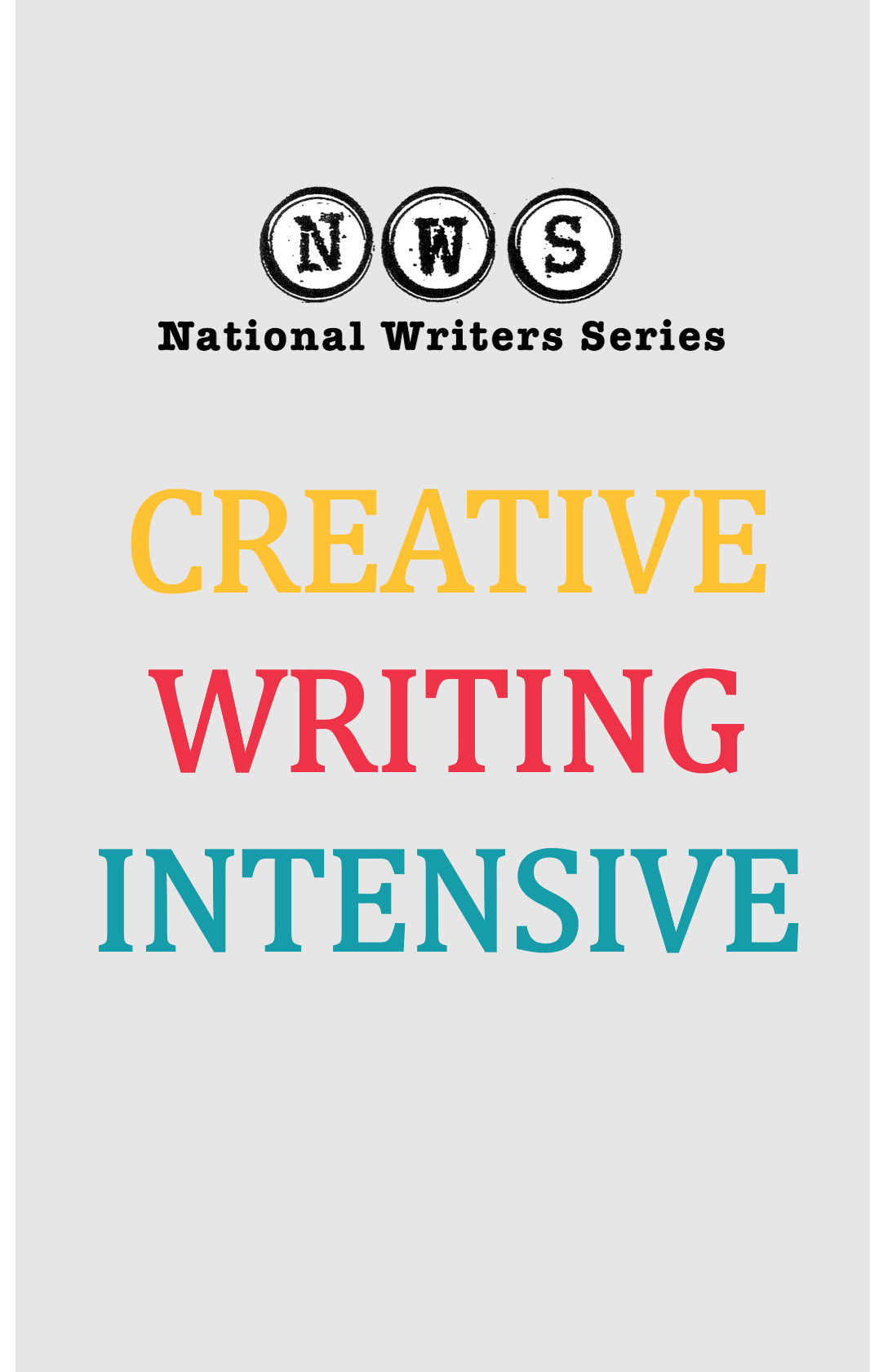 Creative Writing Intensive Fall 2021