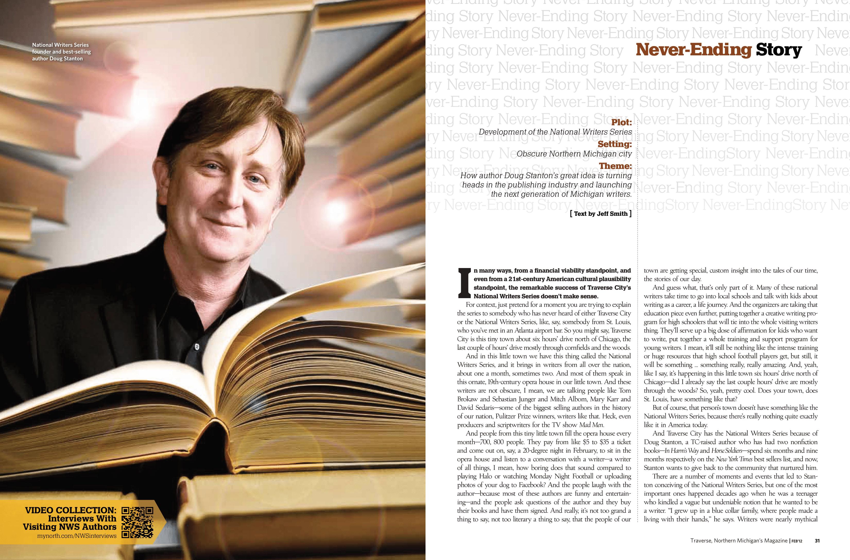Never-Ending Story (Traverse Magazine, 2012)